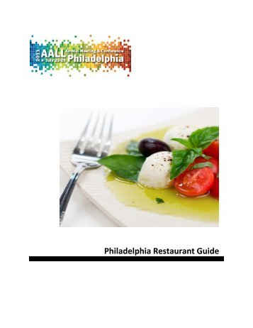 Philadelphia Restaurant Guide - Earle Mack School of Law - Drexel ...