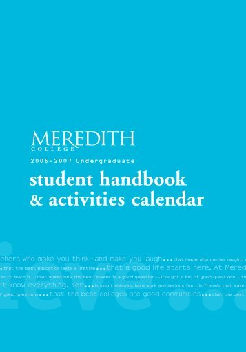 student resources - Meredith College