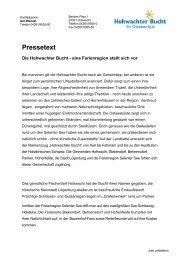 Pressetext - Hohwachter Bucht