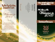 View the New Year's Eve package - Weber's Inn