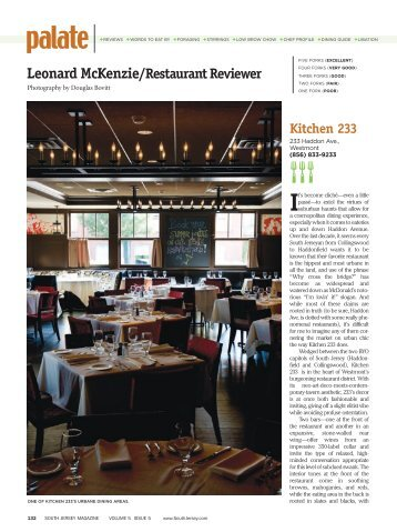 Leonard McKenzie/Restaurant Reviewer - Twenty Pounds Of ...