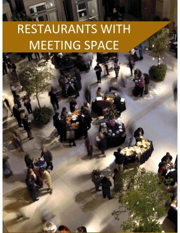 RESTAURANTS WITH MEETING SPACE - Cedia