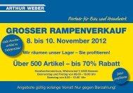 Flyer - Rampenverkauf 2012 - Arthur Weber AG