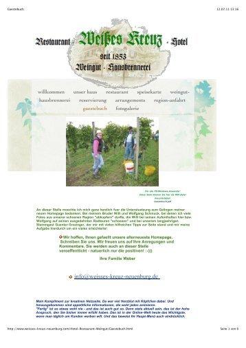 info@weisses-kreuz-neuenburg.de - Hotel-Restaurant Weisses Kreuz