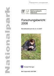 Forschungsbericht 2008 - Nationalpark Hainich