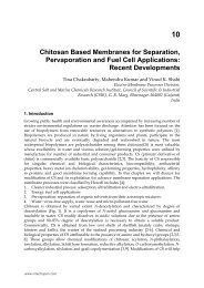 Chitosan Based Membranes for Separation, Pervaporation ... - InTech