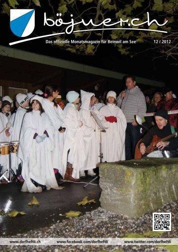 Das offizielle Monatsmagazin für Beinwil am See 10 / 2012 Das ...