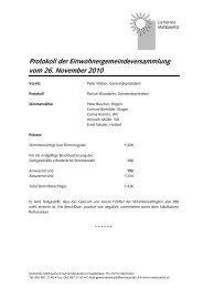 Protokoll der Einwohnergemeindeversammlung vom 26. November ...