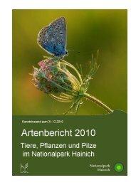 Artenbericht 2010 - Nationalpark Hainich