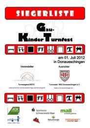 Siegerliste - Badischer Schwarzwald Turngau