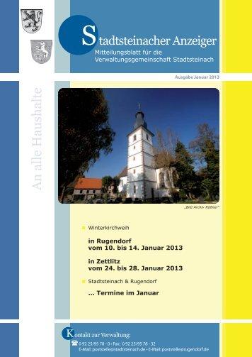 Ausgabe: Januar 2013 - Stadt Stadtsteinach
