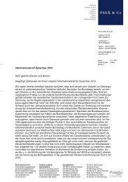 Informationsbrief Dezember 2012 Sehr geehrte Damen ... - FALK & CO