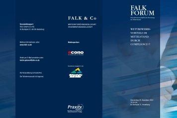 Wettbewerbsvorteile im Mittelstand durch Compliance?! Falk-Forum
