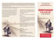 Kindertransporte in eine fremde Welt - 10.000 ... - Falken Essen