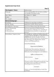Angebotsraster Koop Schule Koop 21 Titel Angebot ... - Falken Essen
