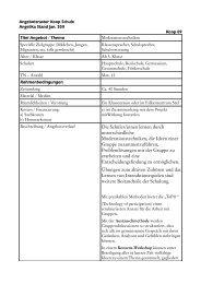 Titel Angebot / Thema - Falken Essen