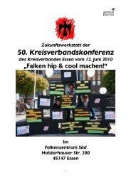 Zukunftswerkstatt der 50. Kreisverbandskonferenz ... - Falken Essen