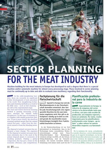 sector planning for the meat industry - Falkenstein
