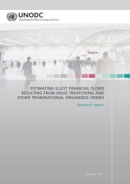 Estimating illicit financial flows resulting from drug trafficking
