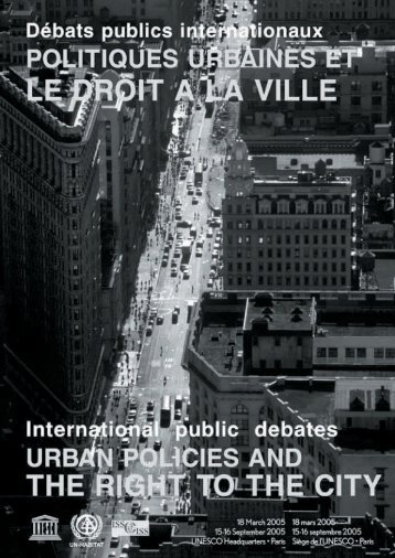 Urban Policies and the Right to the City ... - unesdoc - Unesco