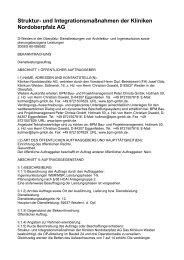 Struktur- und Integrationsmaßnahmen der Kliniken Nordoberpfalz AG
