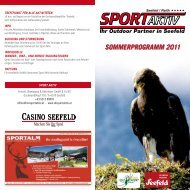 Ihr Outdoor Partner in Seefeld - Sport Aktiv