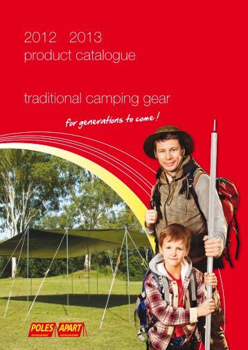 2012 2013 product catalogue traditional camping gear - Poles Apart