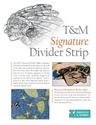 Why Use T&M Signature Divider Strip? - Terrazzo and Marble Supply