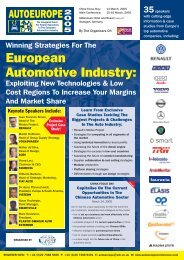 Winning Strategies For The European Automotive Industry - Growth ...