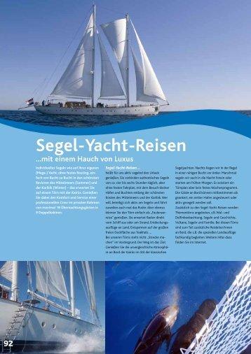 Segel-Yacht-Reisen …mit einem Hauch von Luxus - wb-agent