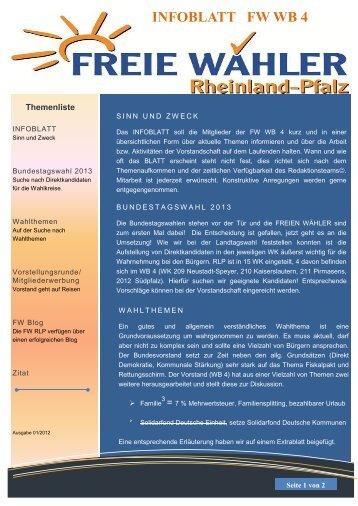 INFOBLATT FW WB 4 - Freie Wähler Rheinland-Pfalz