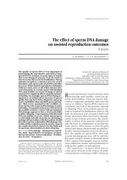 The effect of sperm DNA damage on assisted reproduction outcomes