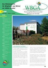 Ausgabe 2/2008 - WBGA Stendal