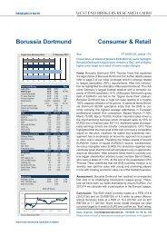 Westend Brokers Research GmbH - BVB Aktie - Borussia Dortmund