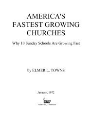 AMERICA'S FASTEST GROWING CHURCHES - Elmer Towns