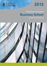 2013 Business School Postgraduate Prospectus - The University of ...
