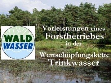 Wertschöpfungskette Trinkwasser - Waldwasser