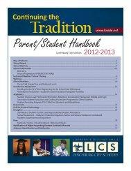 Parent/Student Handbook - Lynchburg City Schools