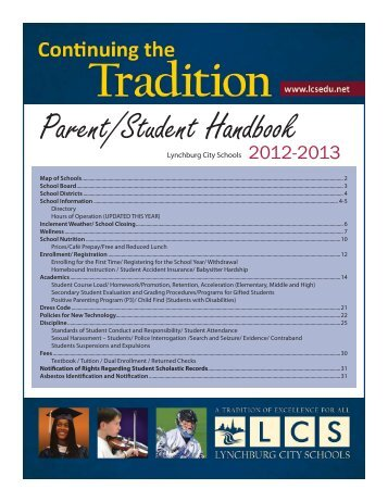 Parent/Student Handbook - Lynchburg City Schools