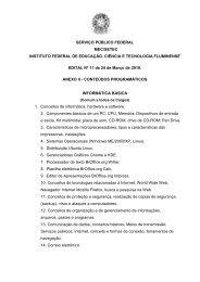EDITAL TEC. ADM. ANEXO II Conteudos programaticos - Portal