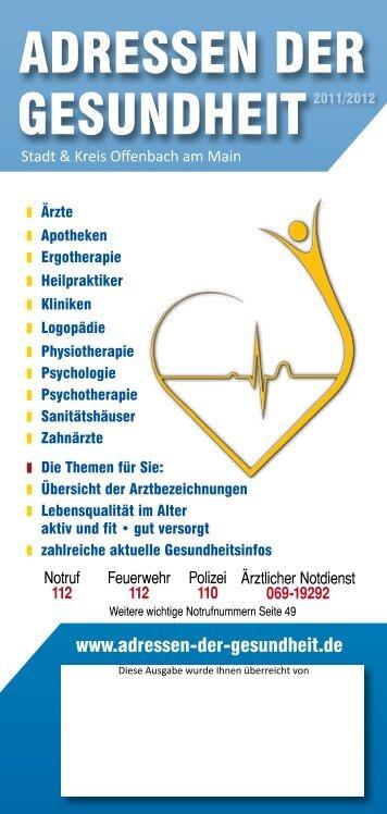 ADRESSEN DER GESUNDHEIT2011/2012 - Gesundheit Rhein-Main