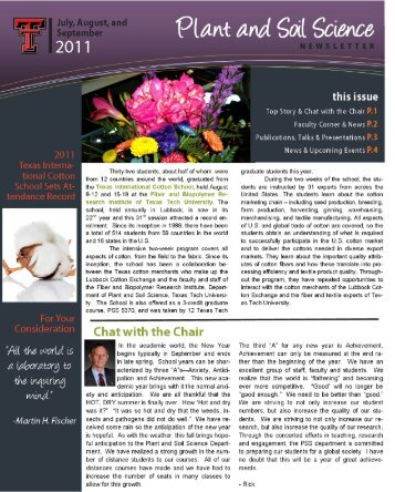 July/August/September - Department of Plant & Soil Science - Texas ...