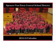 2012-13 Calendar Spencer-Van Etten Central School District