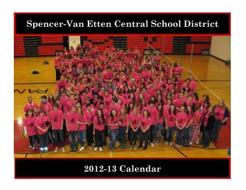 2012-13 Calendar Spencer-Van Etten Central School District