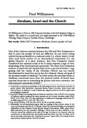 Paul Williamson Abraham, Israel and the Church - BiblicalStudies ...