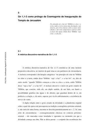 5 Gn 1,1-3 como prólogo da Cosmogonia de ... - PUC Rio