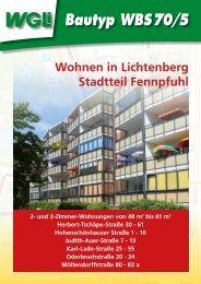 Bautyp WBS 70/5 - WGLi Wohnungsgenossenschaft Lichtenberg eG