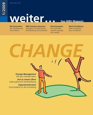 weiter... Das WBS Magazin 1/ 2009 - WBS Training AG