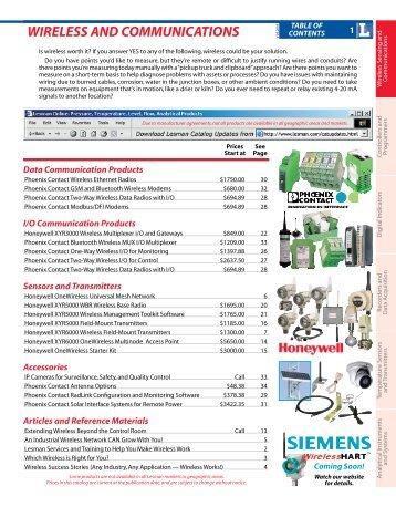 WIRELESS AND COMMUNICATIONS - Lesman Instrument Company