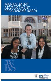 map - Wits Business School